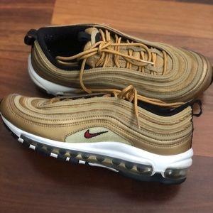 Gold Nike Air Max 97